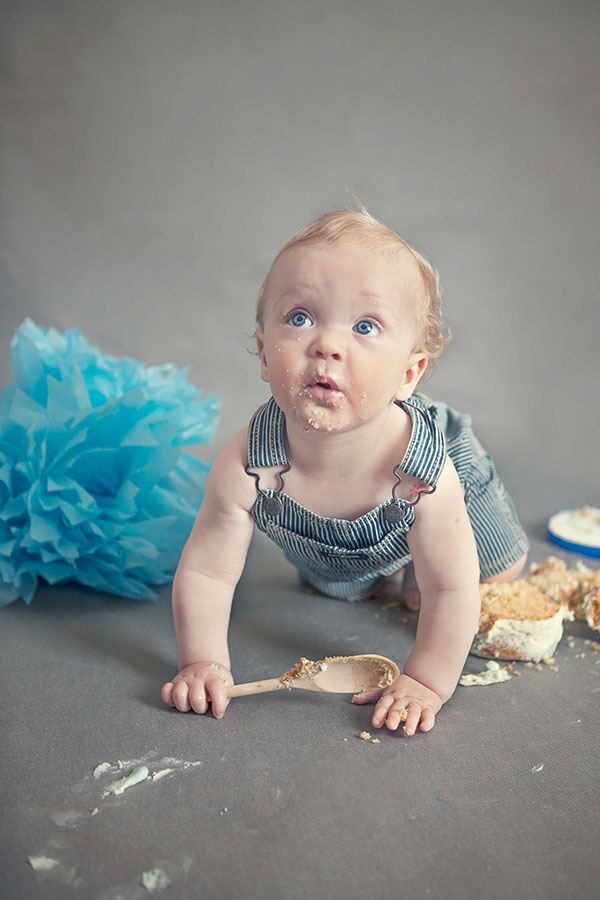 Cake Smashing Fun For Eds First Birthday Celebration Newborn