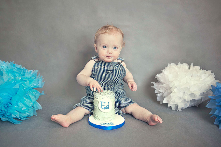 cake smash in Dublin first birthday celbration idea boy