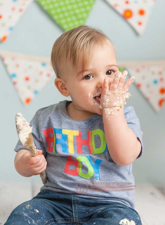 boy cake smash dublin photograper first birthday