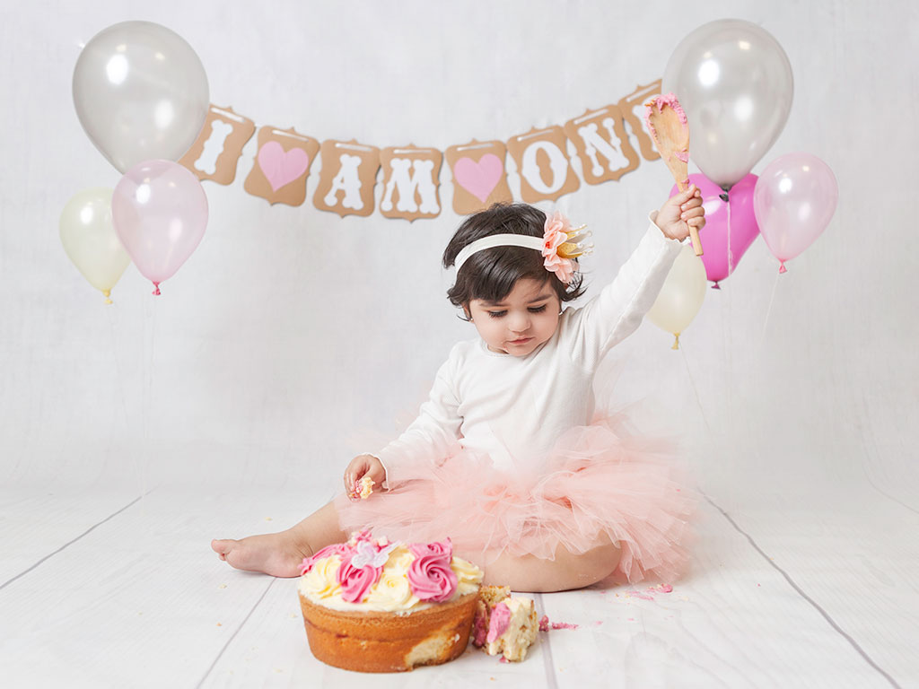 First Birthday Cake Smash Photos In Dublin Studio Are The Best Fun