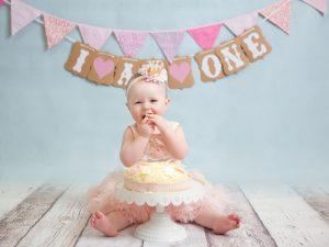 girl cake smash birthday dublin pics
