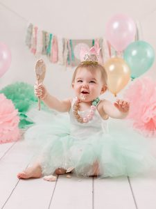fun photos for first birthday at studio dublin phorographers
