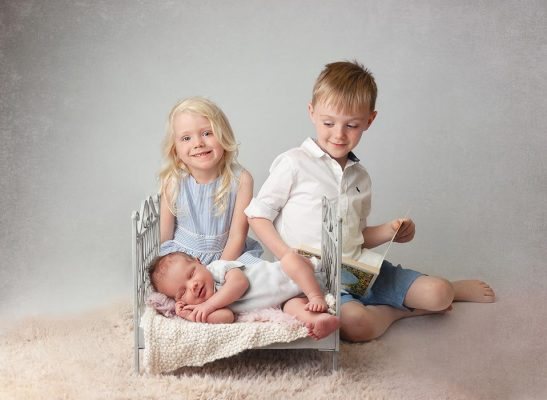 baby and siblings photo studio in dublin