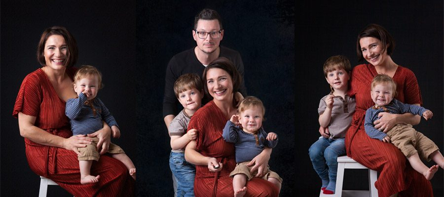 family photo session in studio dublin