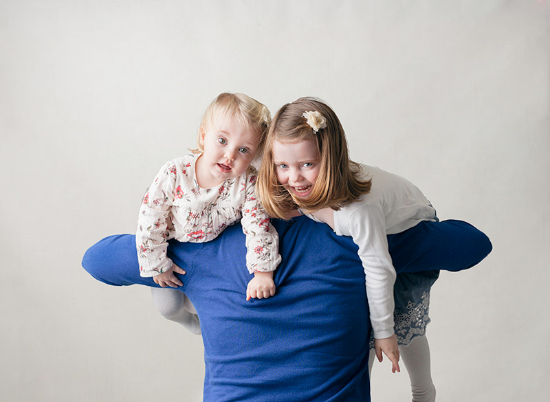 family photo session in studio photography